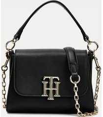 tommy hilfiger women's small satchel black -