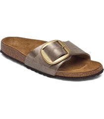 madrid big buckle shoes summer shoes flat sandals guld birkenstock