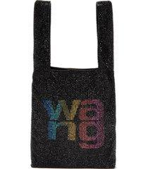 'wangloc' rhinestone embellished mini shopper bag