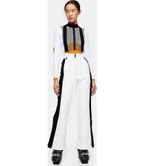 *white colour block flare ski trousers by topshop sno - white