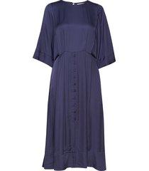 rodebjer farkas blues jurk knielengte blauw rodebjer