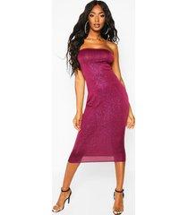 glitter bandeau midi dress, purple
