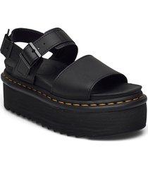voss quad shoes summer shoes flat sandals svart dr. martens