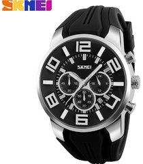 reloj de cuarzo impermeable deportivo al aire libre-negro