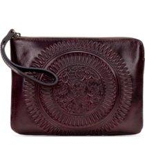 patricia nash cassini tooled leather wristlet