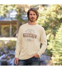 sundance catalog men's explore yosemite t-shirt in cream large