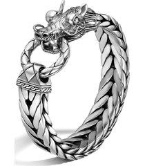 john hardy men's legends naga dragon head bracelet, size medium in silver at nordstrom