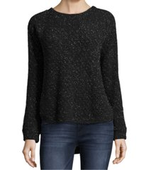 john paul richard petite metallic pullover sweater
