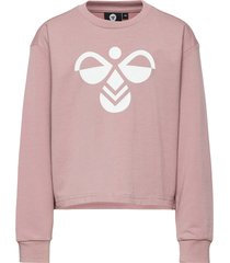 hmlcinco sweatshirt sweat-shirt tröja rosa hummel