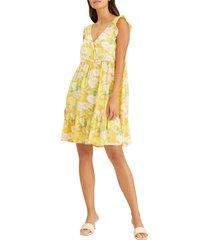 women's sanctuary carefree v-neck babydoll dress, size x-large - orange