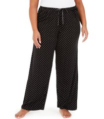 hue plus size dot-print pajama pants