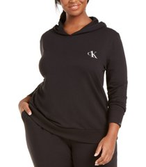 calvin klein ck one plus size french terry lounge hoodie