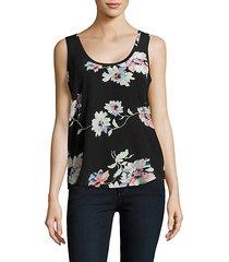 annabeth floral printed silk tank top