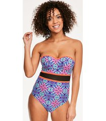 hawaii diamond underwire bandeau tummy control one-piece swimsuit b-g cup