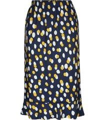 kjol m. collection marinblå::gul::vit