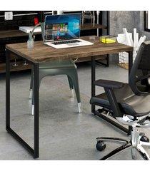 mesa escrivaninha office kuadra carvalho dark 8395 - compace