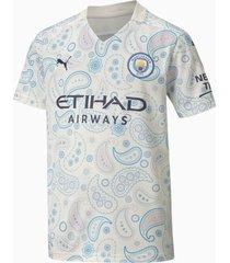 man city third replica shirt, blauw/wit, maat 164 | puma