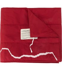 a-cold-wall* logo print scarf - red