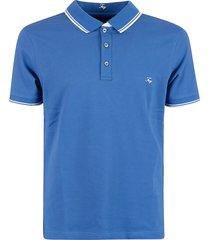 fay classic logo & stripe detail polo shirt