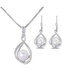 conjunto perla hermosa plata arany joyas