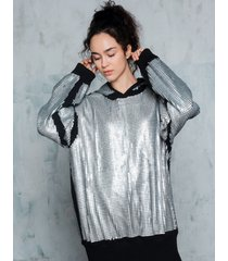 bluza w srebrne cekiny