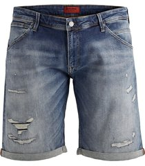 jack & jones plus size denim shorts blauw