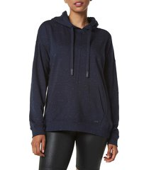 marc new york performance women's french terry speckled-print hoodie - ink - size xl