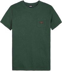 kultivate 2101010209 497 botanic green t-shirt washed pocket -