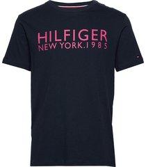 cn ss tee logo t-shirts short-sleeved blå tommy hilfiger