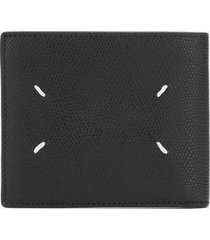 maison margiela men's leather wallet - black