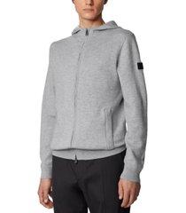 boss men's oduardo open grey sweater