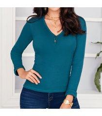 blusa kendall verde para mujer croydon