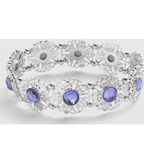 lane bryant women's filigree & faceted stone stretch bracelet onesz lilac blooms