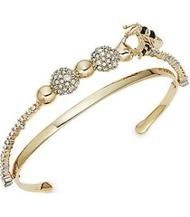 10k goldplated & crystal cuff bracelet