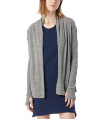 alternative apparel rib sleeve eco-jersey women's wrap cardigan