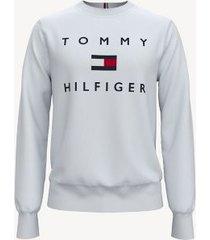 tommy hilfiger men's essential logo sweatshirt bright white - xxxl