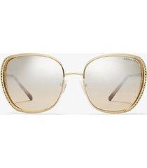 mk occhiali da sole amsterdam - oro (oro) - michael kors