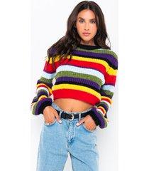 akira full of love long sleeve multi colored sweater