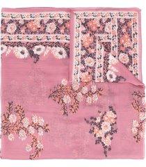 etro floral-jacquard scarf - pink