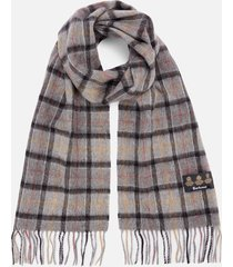 barbour men's tartan scarf and gloves gift set - modern/grey