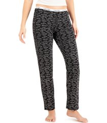 calvin klein women's logo band pajama pants