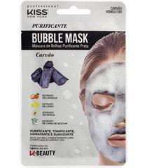 máscara facial de bolhas kiss new york carvão preta único