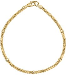 women's lagos caviar gold rope bracelet