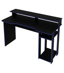 mesa gamer preto/azul tecno mobili
