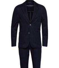 bs molise, suit set kostym blå bruun & stengade