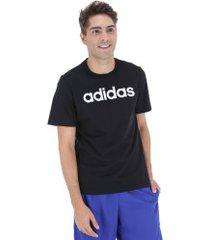camiseta adidas essentials linear tee - masculina - preto