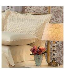 fronha para travesseiro 50x90cm matelasse soft touch bege plumasul