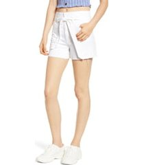 women's tinsel belted denim shorts