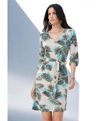 jurk amy vermont offwhite::lichtblauw