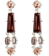 women's vince camuto mixed stone clip-on earrings
